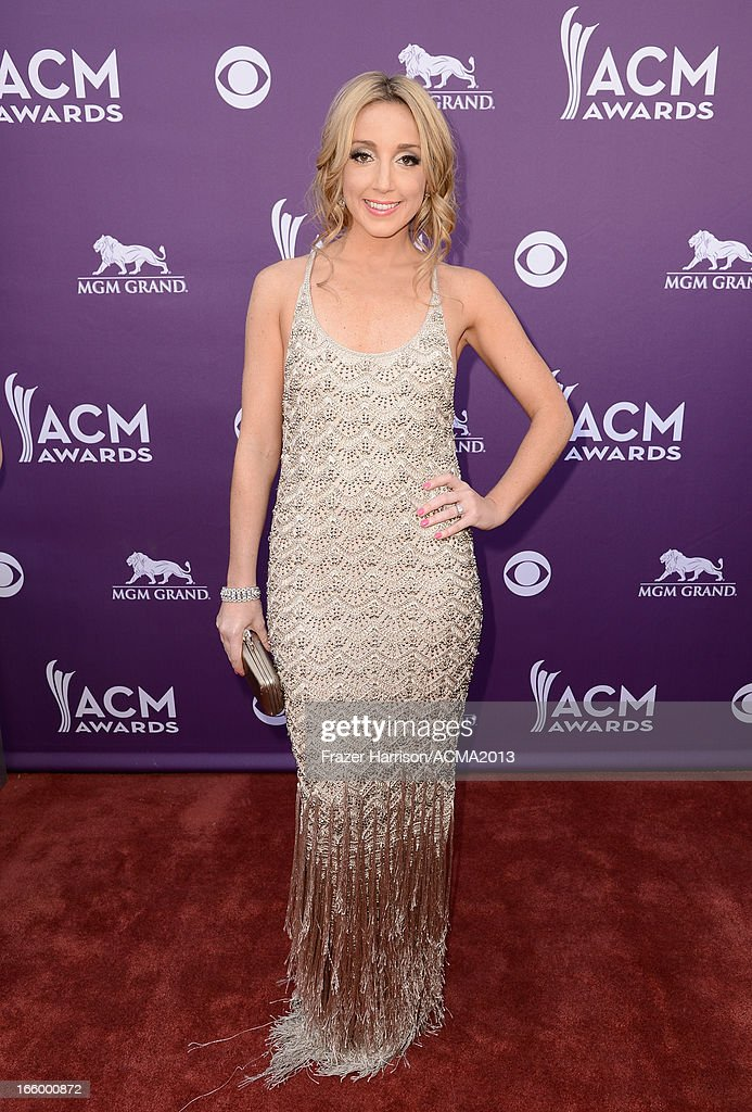 Musician Ashley Monroe arrives at the 48th Annual Academy of Country Music Awards at the MGM Grand Garden Arena on April 7, 2013 in Las Vegas, Nevada.