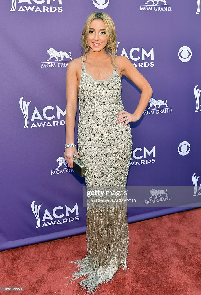 Musician Ashley Monroe attends the 48th Annual Academy of Country Music Awards at the MGM Grand Garden Arena on April 7, 2013 in Las Vegas, Nevada.