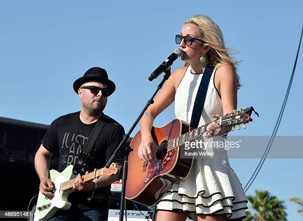 Musician Ashley Monroe performs onstage during day 2 of 2014 Stagecoach California's Country Music Festival at the Empire Polo Club on April 26 2014...