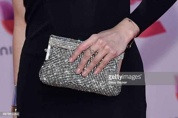 Musician Astrid Asher purse detail attends the 16th Latin GRAMMY Awards at the MGM Grand Garden Arena on November 19 2015 in Las Vegas Nevada