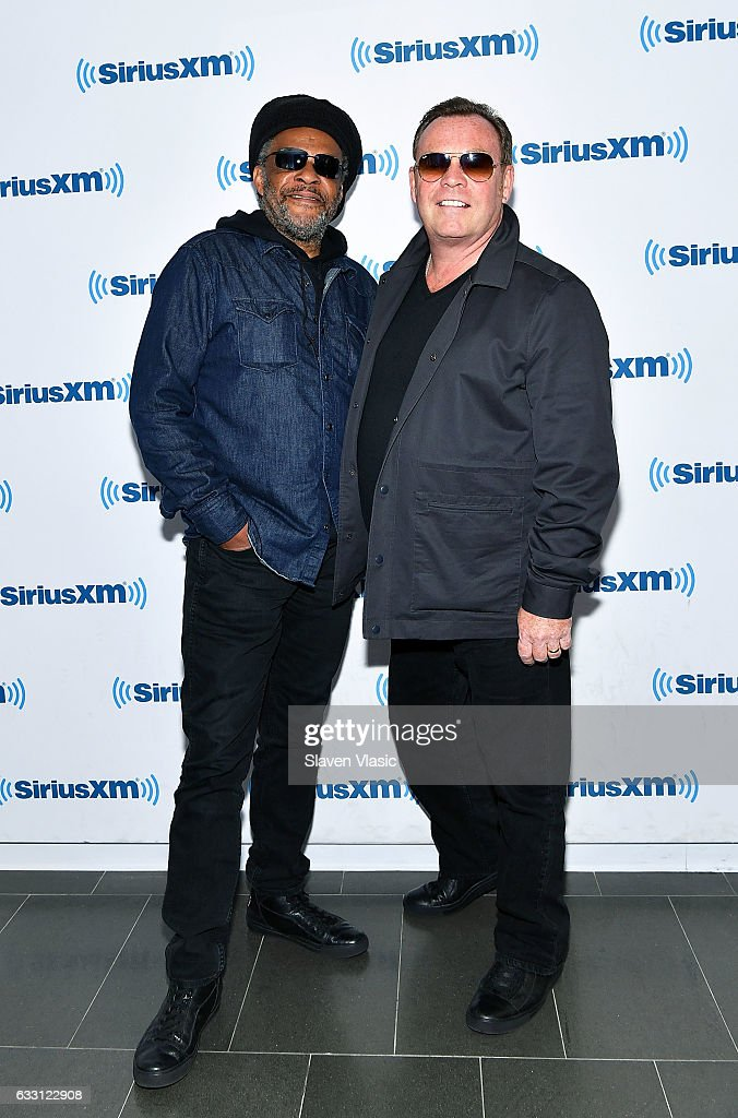 Musician Astro (L) and singer/songwriter Ali Campbell of reggae/pop band 'UB40' visit SiriusXM Studios on January 30, 2017 in New York City.