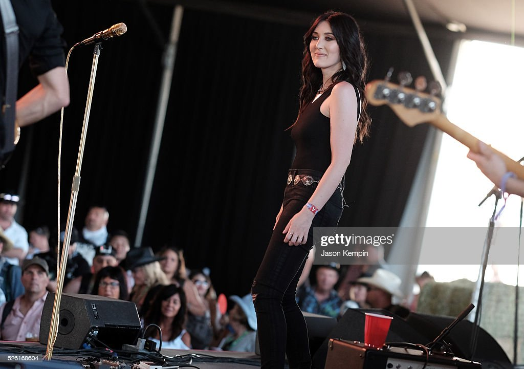 Musician <a gi-track='captionPersonalityLinkClicked' href=/galleries/search?phrase=Aubrie+Sellers&family=editorial&specificpeople=7270394 ng-click='$event.stopPropagation()'>Aubrie Sellers</a> performs onstage during 2016 Stagecoach California's Country Music Festival at Empire Polo Club on April 29, 2016 in Indio, California.