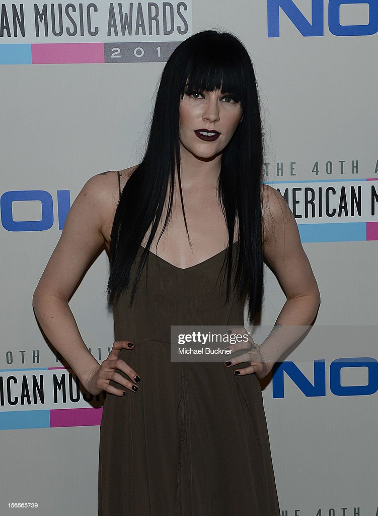 Musician Audrey Naploean arrive at The 40th American Music Awards celebration of Electronic Dance Music at Nokia Theatre L.A. Live on November 16, 2012 in Los Angeles, California.