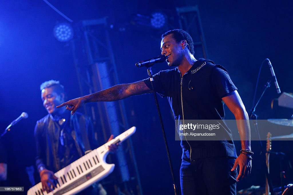 Musician Austin Brown performs onstage opening for Ciara during a 'Myspace LIVE' concert at Key Club on November 19, 2012 in West Hollywood, California.