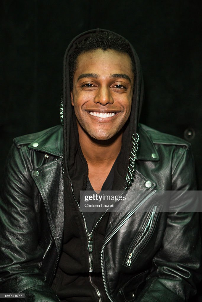 Musician Austin Brown poses backstage at Myspace LIVE series at Key Club on November 19, 2012 in West Hollywood, California.