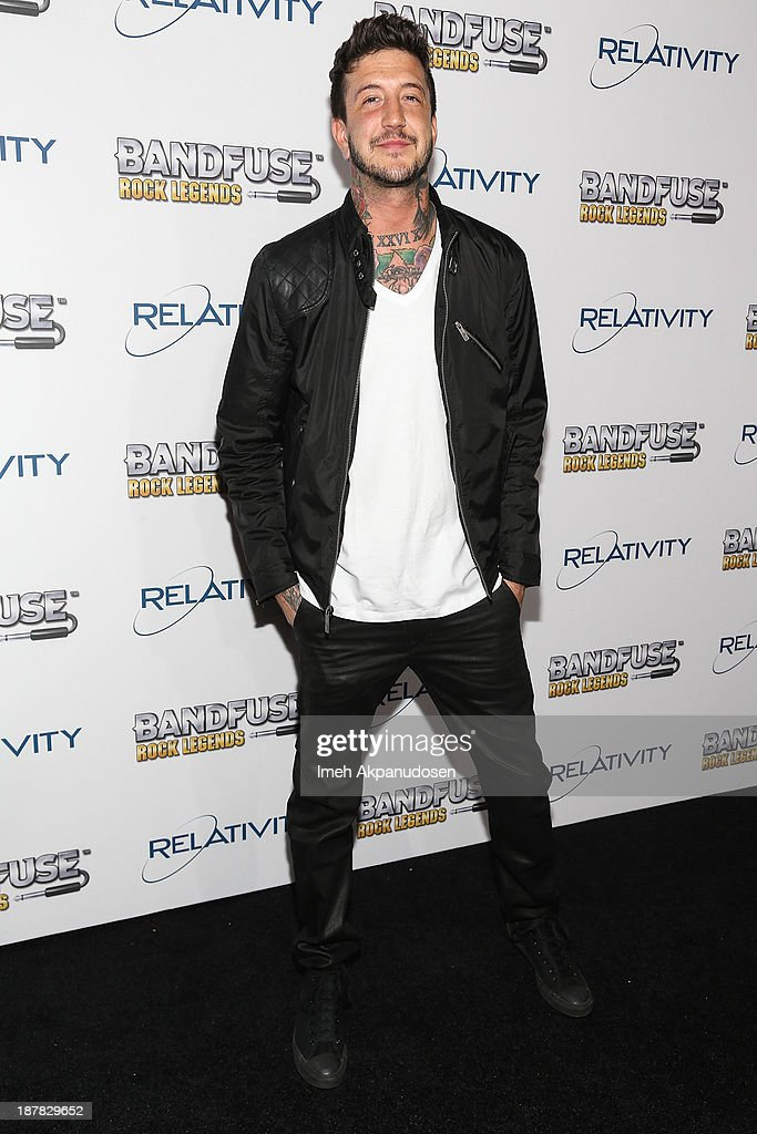 Musician Austin Carlile attends the BandFuse: Rock Legends video game launch event at House of Blues Sunset Strip on November 12, 2013 in West Hollywood, California.