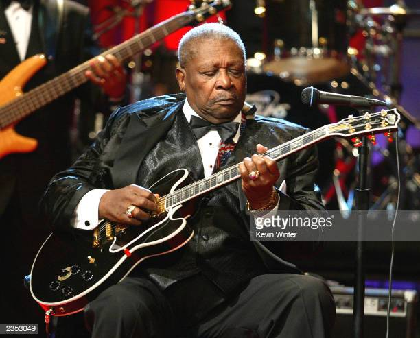 Musician BB King appears on 'The Tonight Show with Jay Leno' at the NBC Studios on July 31 2003 in Burbank California