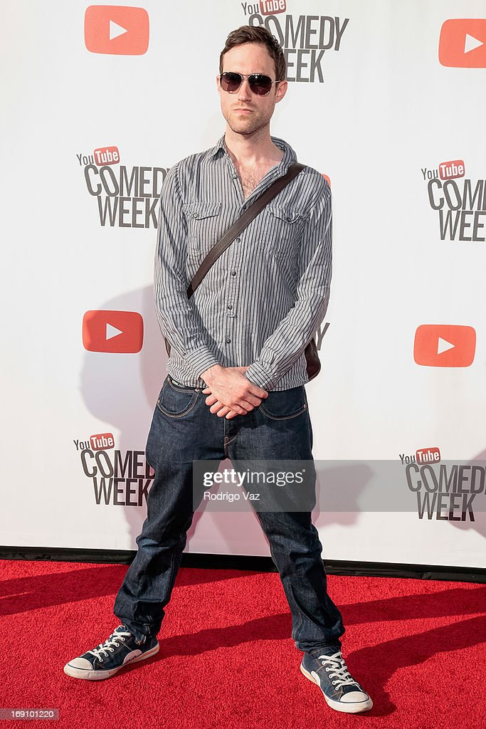 Musician Beardyman arrives at the YouTube Comedy Week Presents 'The Big Live Comedy Show' at Culver Studios on May 19, 2013 in Culver City, California.