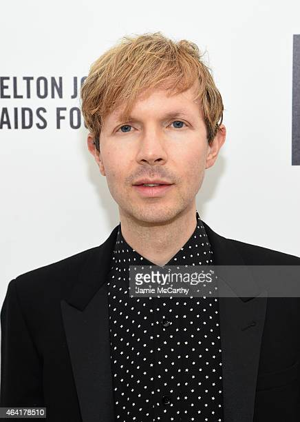 Musician Beck attends the 23rd Annual Elton John AIDS Foundation Academy Awards Viewing Party on February 22 2015 in Los Angeles California