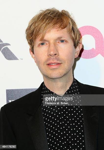 Musician Beck attends the 23rd Annual Elton John AIDS Foundation's Oscar Viewing Party on February 22 2015 in West Hollywood California