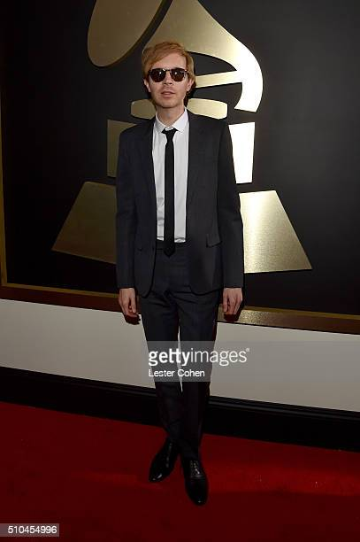 Musician Beck attends The 58th GRAMMY Awards at Staples Center on February 15 2016 in Los Angeles California