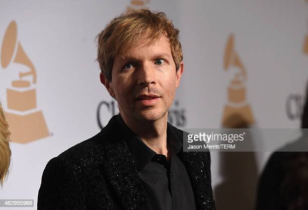 Musician Beck attends the PreGRAMMY Gala and Salute To Industry Icons honoring Martin Bandier at The Beverly Hilton Hotel on February 7 2015 in...
