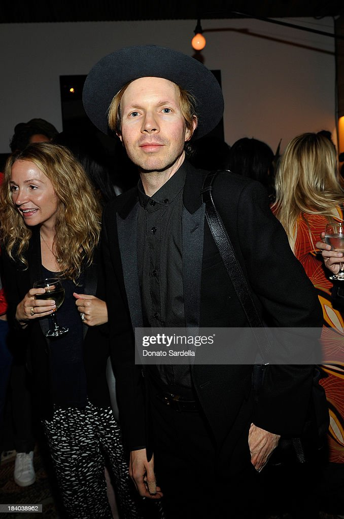 Musician <a gi-track='captionPersonalityLinkClicked' href=/galleries/search?phrase=Beck+-+Musician&family=editorial&specificpeople=149906 ng-click='$event.stopPropagation()'>Beck</a> Hansen attends Isabel Marant & Milla Jovovich BBQ party to celebrate the 1st Year of he LA Shop at Isabel Marant on October 10, 2013 in Los Angeles, California.