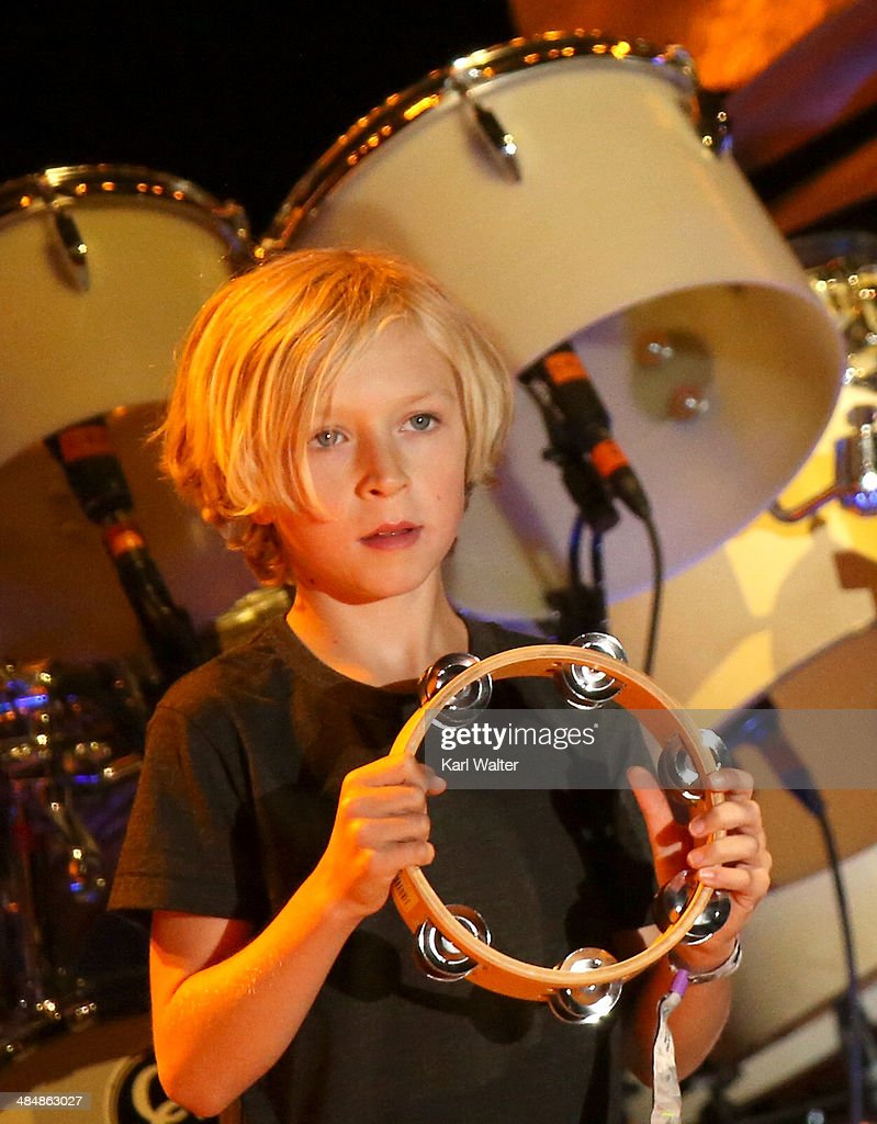Musician Beck Hansen's son Cosimo performs onstage during day 3 of the 2014 Coachella Valley Music & Arts Festival at the Empire Polo Club on April 13, 2014 in Indio, California.