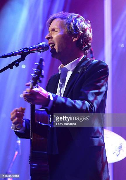 Musician Beck performs onstage during the 2016 PreGRAMMY Gala and Salute to Industry Icons honoring Irving Azoff at The Beverly Hilton Hotel on...