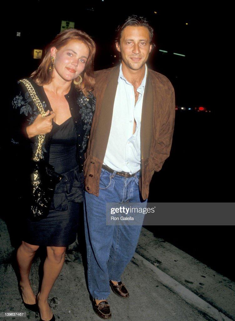Musician Belinda Carlisle and husband Morgan Mason on June 3 1987 dine at Spago in West Hollywood California