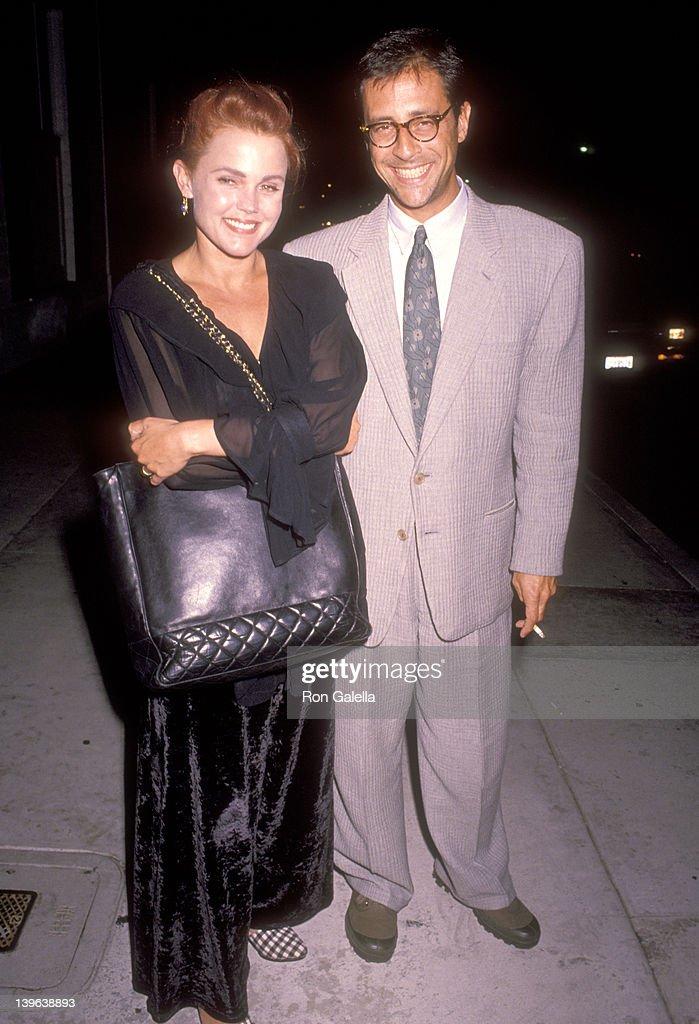 Musician Belinda Carlisle of The GoGo's and husband Morgan Mason on October 5 1990 dine at Chasen's Restaurant in Beverly Hills California