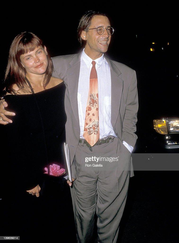 Musician Belinda Carlisle of The GoGo's and husband Morgan Mason on June 26 1988 dine at Spago in West Hollywood California