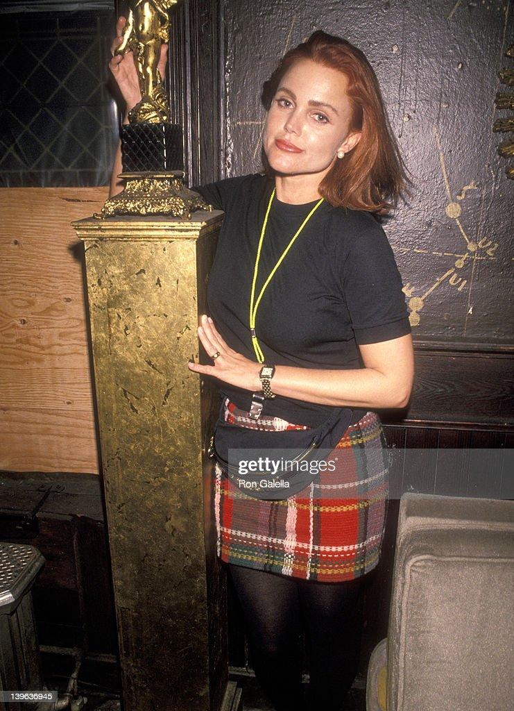 Musician Belinda Carlisle of The GoGo's attends John 'Jellybean' Benitez's 33rd Birthday Party on November 8 1990 at The Limelight in New York City