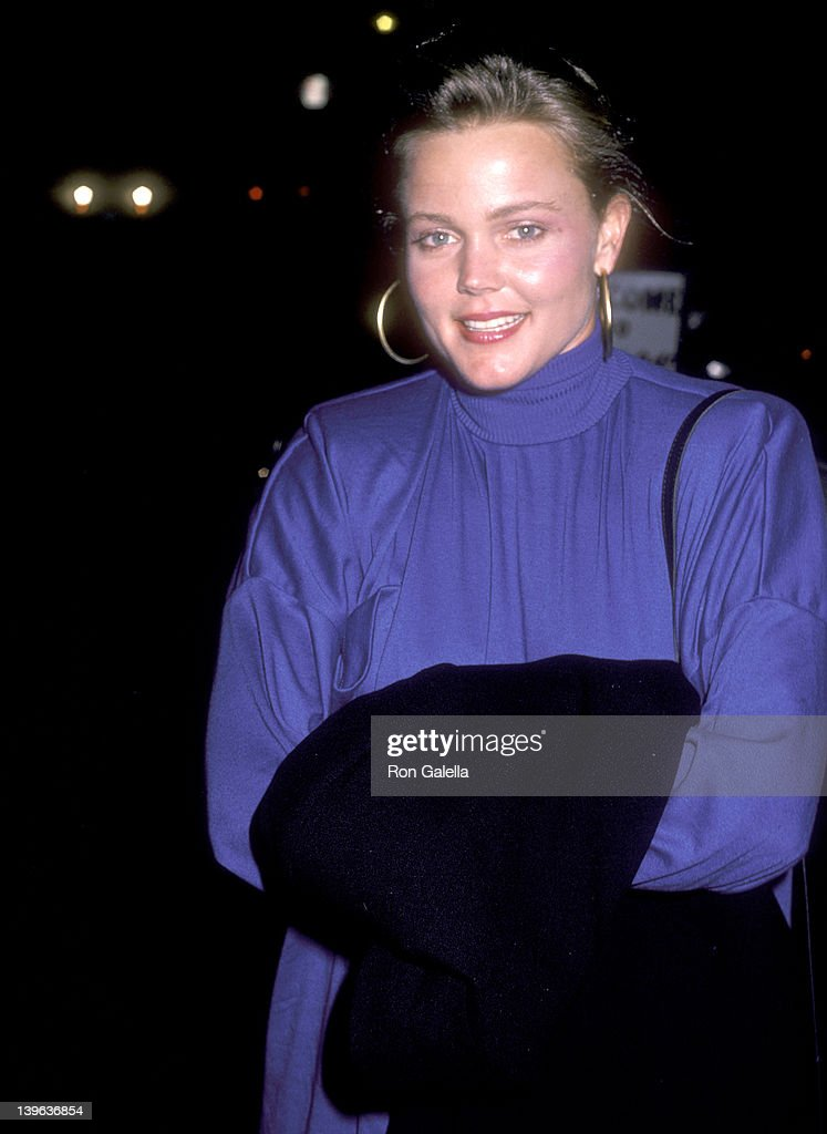 Musician Belinda Carlisle of The GoGo's on September 27 1985 dines at Spago in West Hollywood California