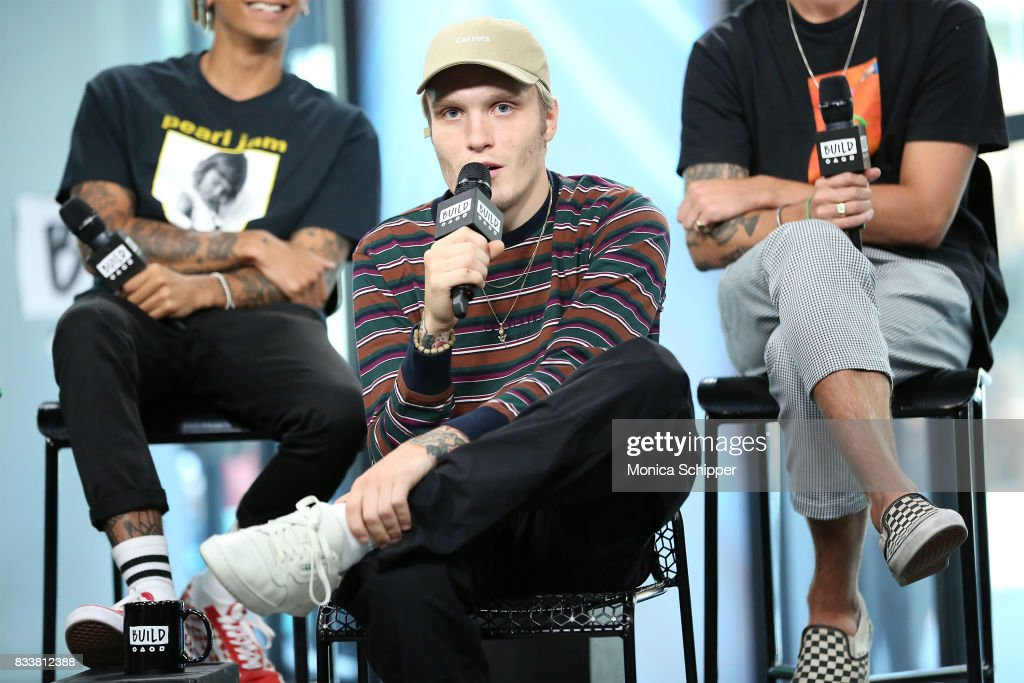 Musician Ben Barlow from the pop punk band Neck Deep discusses their album 'The Peace and The Panic' at Build Studio on August 17, 2017 in New York City.