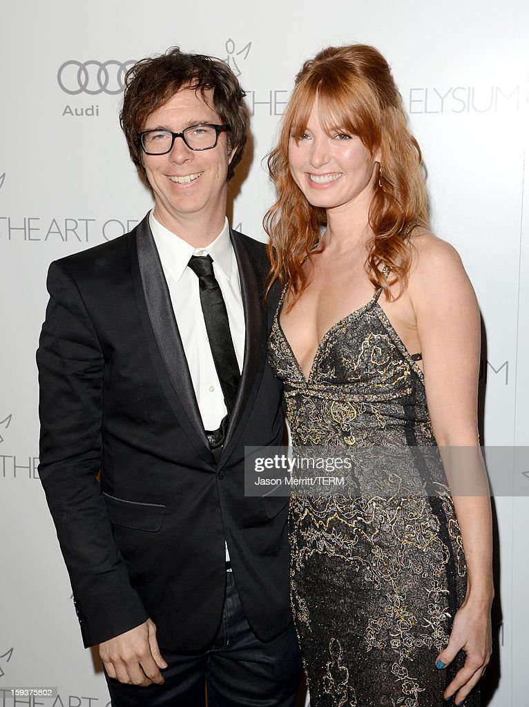 Musician Ben Folds (L) and actress Alicia Witt attend The Art of Elysium's 6th Annual HEAVEN Gala presented by Audi at 2nd Street Tunnel on January 12, 2013 in Los Angeles, California.