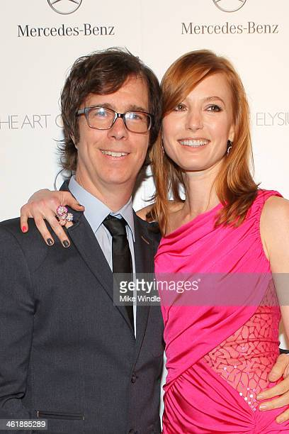 Musician Ben Folds and actress Alicia Witt attend The Art of Elysium's 7th Annual HEAVEN Gala presented by MercedesBenz at Skirball Cultural Center...