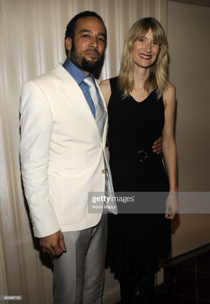 Musician Ben Harper and Actress Laura Dern backstage at the 23rd Annual Rock and Roll Hall of Fame Induction Ceremony at the Waldorf Astoria on March 10, 2008 in New York City. *EXCLUSIVE*