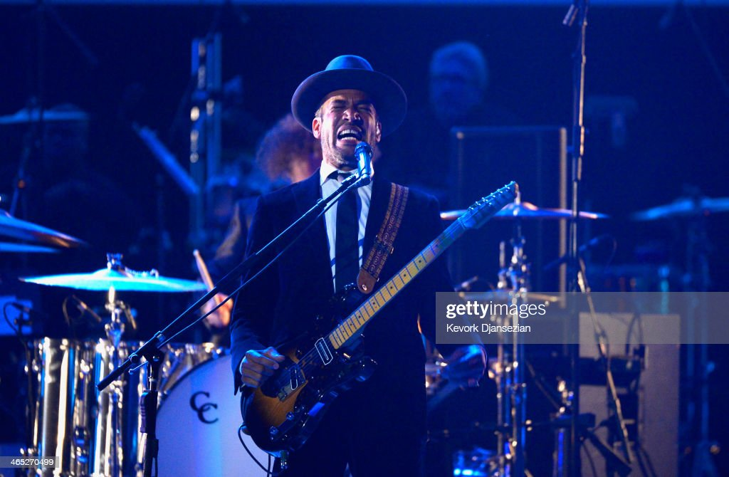 Musician Ben Harper performs onstage during the 56th GRAMMY Awards Pre-Telecast Show at Nokia Theatre L.A. Live on January 26, 2014 in Los Angeles, California.