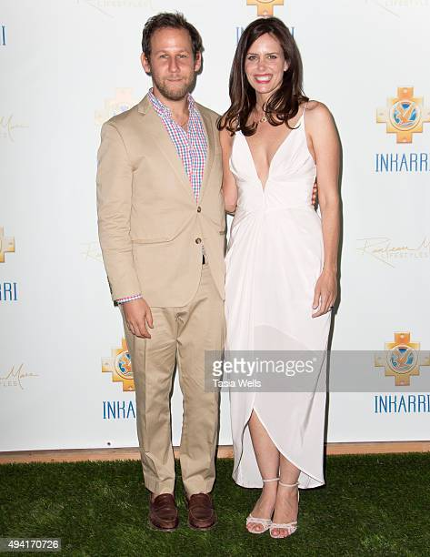 Musician Ben Lee and actress Ione Skye arrive at An Evening With Inkarri on October 24 2015 in Beverly Hills California