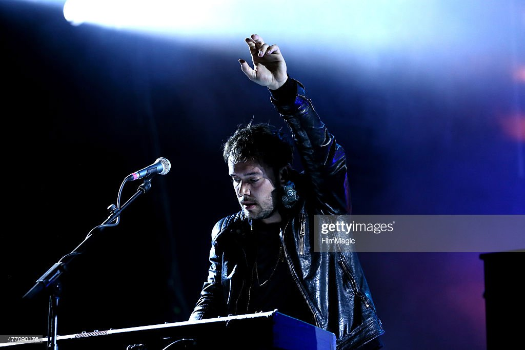 Musician Ben Lovett of Mumford Sons performs onstage at What Stage during Day 3 of the 2015 Bonnaroo Music And Arts Festival on June 13 2015 in...