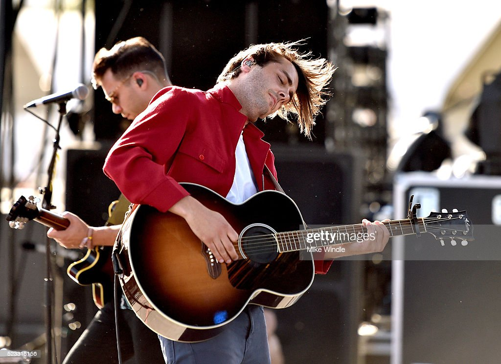 Musician Ben Schneider of Lord Huron performs onstage during day 1 of the 2016 Coachella Valley Music Arts Festival Weekend 2 at the Empire Polo Club...