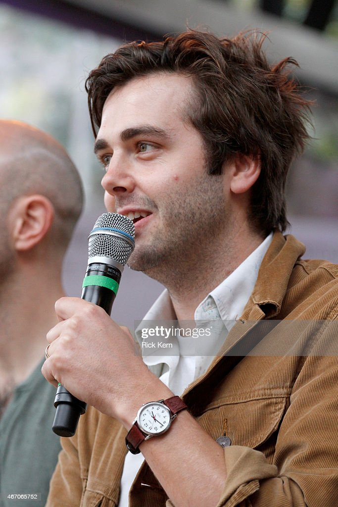 Musician Ben Schneider of Lord Huron speaks onstage during the Lord Huron album listening session at the Samsung Studio at SXSW 2015 on March 20 2015...