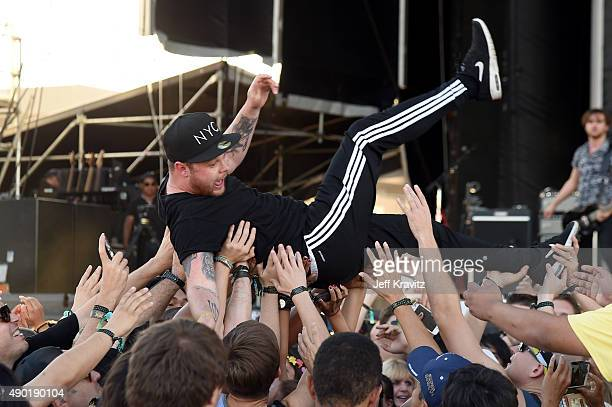 Musician Ben Thatcher of Royal Blood performs onstage during day 2 of the 2015 Life is Beautiful festival on September 26 2015 in Las Vegas Nevada