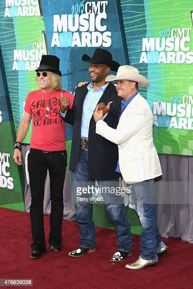 Musician Big Kenny of Big Rich Cowboy Troy and musician John Rich of Big Rich attend the 2015 CMT Music awards at the Bridgestone Arena on June 10...