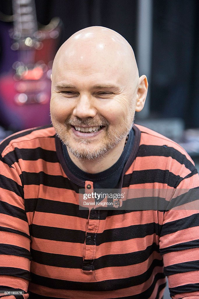 Musician Billy Corgan of Smashing Pumpkins appears at NAMM Show Day 1 at Anaheim Convention Center on January 21 2016 in Anaheim California