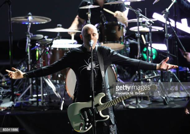 Musician Billy Corgan of Smashing Pumpkins performing onstage during Spike TV's 2008 Scream awards held at the Greek Theater on October 18 2008 in...