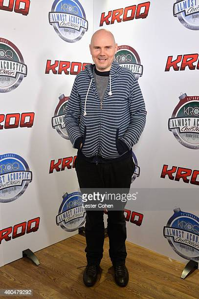 Musician Billy Corgan of The Smashing Pumpkins attends day two of the 25th annual KROQ Almost Acoustic Christmas at The Forum on December 13 2014 in...