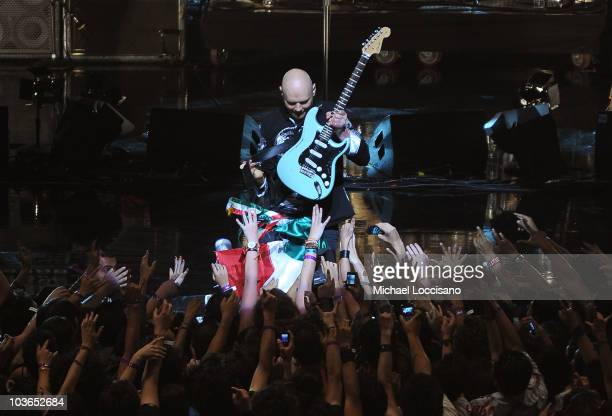 Musician Billy Corgan of the Smashing Pumpkins performs during the 2010 MTV World Stages concert at the Auditorio Nacional on August 26 2010 in...