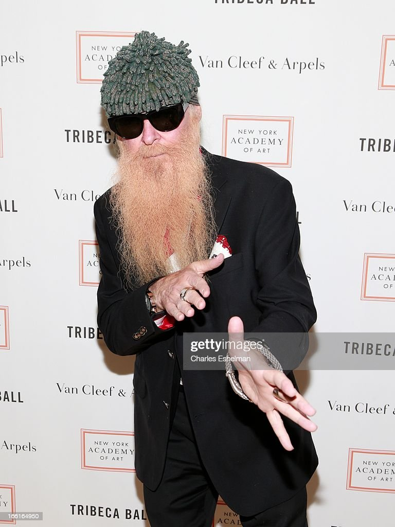Musician <a gi-track='captionPersonalityLinkClicked' href=/galleries/search?phrase=Billy+Gibbons&family=editorial&specificpeople=242873 ng-click='$event.stopPropagation()'>Billy Gibbons</a> attends 2013 Tribeca Ball at New York Academy of Art on April 8, 2013 in New York City.