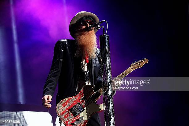 Musician Billy Gibbons from ZZ Top performs during the 'Louder Than Life' festival at Champions Park on October 4 2015 in Louisville Kentucky