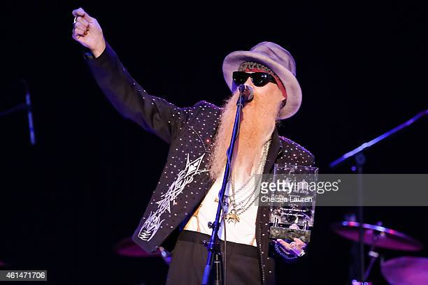 Musician Billy Gibbons performs at the Adopt the Arts benefit concert at The Roxy Theatre on January 12 2015 in West Hollywood California