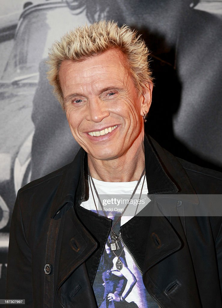Musician <a gi-track='captionPersonalityLinkClicked' href=/galleries/search?phrase=Billy+Idol&family=editorial&specificpeople=138578 ng-click='$event.stopPropagation()'>Billy Idol</a> arrives at the 'John Varvatos: Rock In Fashion book launch celebration held at John Varvatos Los Angeles on November 7, 2013 in Los Angeles, California.