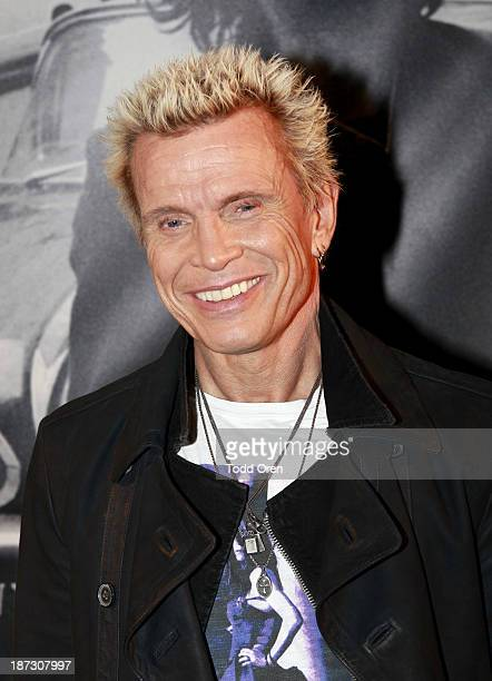 Musician Billy Idol arrives at the 'John Varvatos Rock In Fashion book launch celebration held at John Varvatos Los Angeles on November 7 2013 in Los...