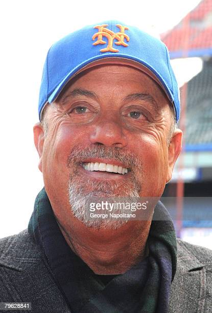Musician Billy Joel announces during a press conference on February 7 2008 that he will make 'The Last Play At Shea' in final concert at New York's...