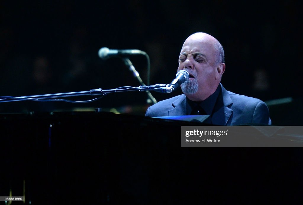 Musician Billy Joel performs at Madison Square Garden on January 27 2014 in New York City