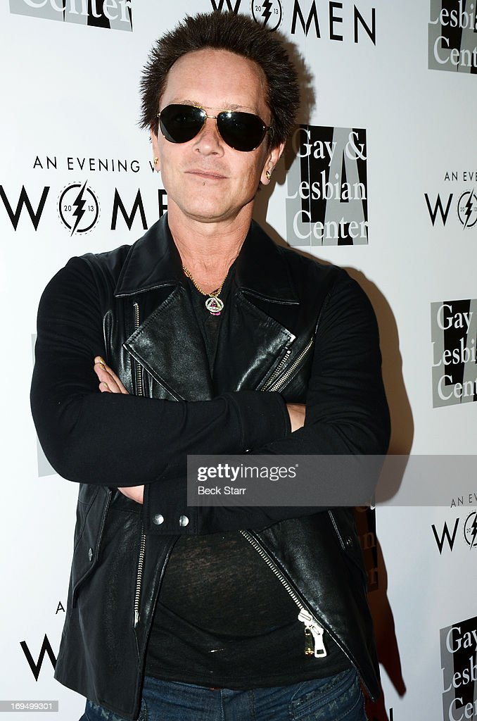 Musician Billy Morrison arrives at the L.A. Gay & Lesbian Center's 2013 'An Evening With Women' gala at The Beverly Hilton Hotel on May 18, 2013 in Beverly Hills, California.