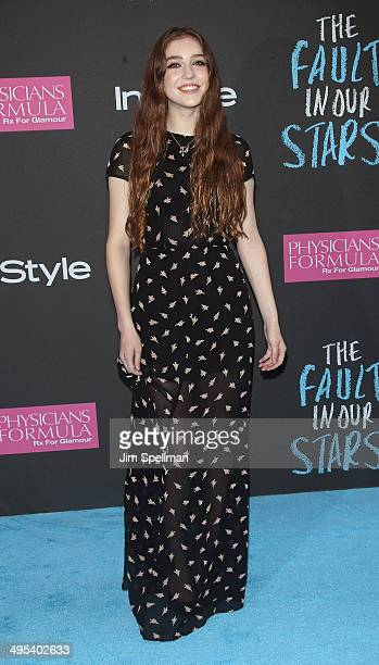 Musician Birdy attends 'The Fault In Our Stars' premiere at Ziegfeld Theater on June 2 2014 in New York City
