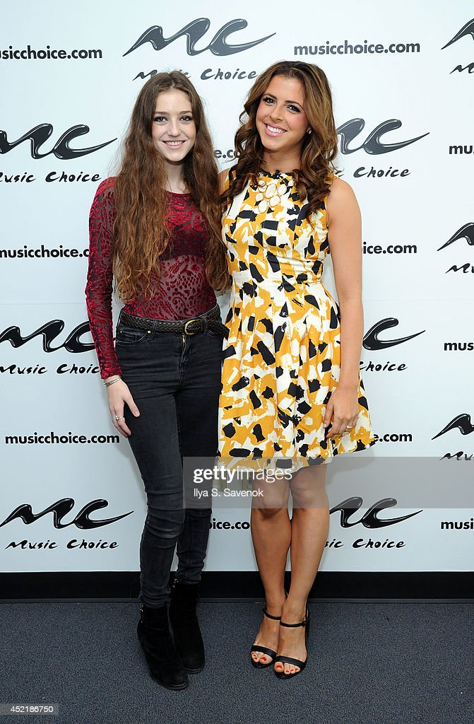 Musician '<a gi-track='captionPersonalityLinkClicked' href=/galleries/search?phrase=Birdy+-+Musician&family=editorial&specificpeople=12423197 ng-click='$event.stopPropagation()'>Birdy</a>' poses with host Clare Galterio during her visit to Music Choice's 'You & A' at Music Choice on July 15, 2014 in New York City.