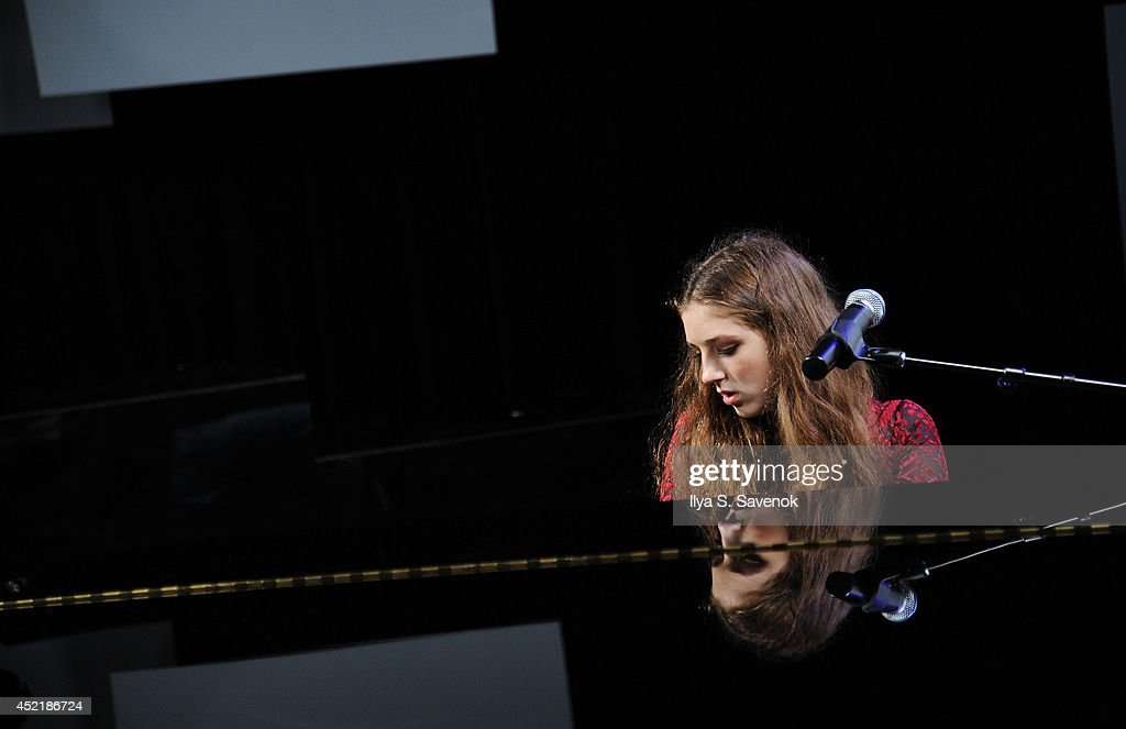 Musician '<a gi-track='captionPersonalityLinkClicked' href=/galleries/search?phrase=Birdy+-+Musician&family=editorial&specificpeople=12423197 ng-click='$event.stopPropagation()'>Birdy</a>' visits Music Choice's 'You & A' at Music Choice on July 15, 2014 in New York City.